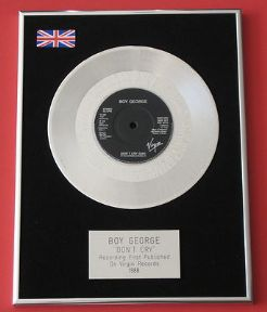 BOY GEORGE - Don't Cry PLATINUM Single Presentation DISC